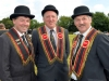 Mandatory Credit: ROWLAND WHITE/PRESSEYE Royal Black Last Saturday Parade Venue: Ballyronan Date: 31st Aiugust 2013 Caption: Greer Hunter, Kenny Wensley and Robert Wensley from Moneymore RBP 313