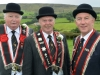 Mandatory Credit: Rowland White/Presseye Royal Black: Last Saturday Demonstration Venue: Plumbridge Date: 25th August 2012 Caption: Amid the Sperrin hills! Gamble Moore  Worshipful Master 416, Billy Key 416 and David Palmer 304